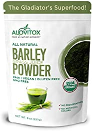 Alovitox Organic Barley Grass Juice Powder - 8 oz