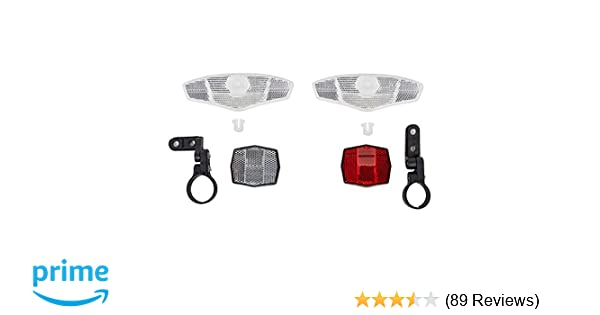 Sunlite Deluxe Bicycle 4-Pack Reflector Kit Front /& Rear 2 Wheels