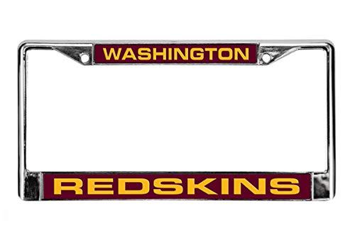 (NFL Washington Redskins Laser Cut Chrome Plate Frame)