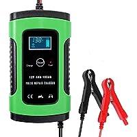 KKmoon 12V 6A Cargador de Batería para Automóvile,Motocicleta,Powersports,Barco,Mantenimiento Completamente Automático e…