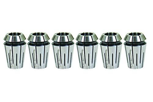 3//8 3//16 Tegara ER20 1//8 1//2 in Steel Sealed Coolant Collet 6 pc Set 202-6618-6619-6621-6622-6624-6627 1//4 5//16