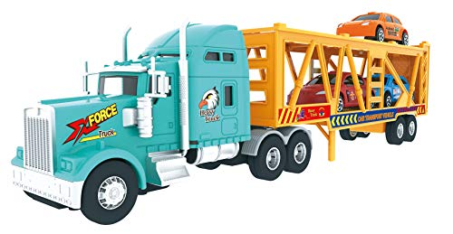 avy Duty Tractor Trailer Transport Car Transport Toy Truck with 3 Cars ()