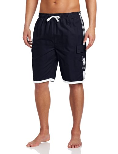 U.S. Polo Assn. Men's Side Stripe Basic Cargo with Big Pony, Classic Navy, X-Large