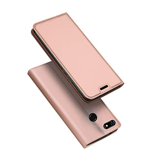 HAPPON Google Pixel 3a XL Wallet Case, Premium Slim Phone Case Slim Carrying case Bracket Back Case with Card Holder Backcase Multifunction Shell Suitable for Google Pixel 3a XL (Rose Gold ()
