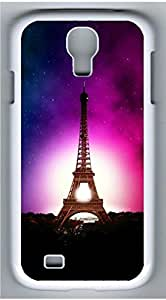 Samsung Galaxy S4 I9500 White Hard Case - Eiffel Tower Under The Stars Galaxy S4 Cases