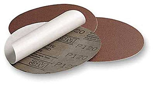 3M Stikit Cloth Disc Roll 341D, PSA Attachment, Aluminum Oxide, 5'' Diameter, 50 Grit (Roll of 100)