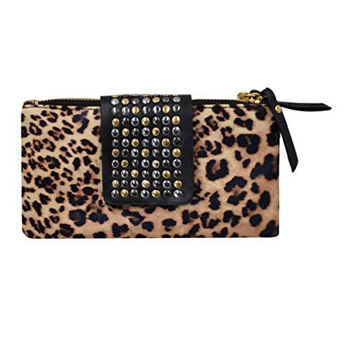 Goodbag Boutique Lady Floral Embossed Wristlet Handbag With Shoulder Strap