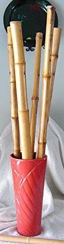 "Tropical Palm Leaves FLOWER VASE Orange 14"" Tall Ceramic Haeger Potteries MADE in USA"
