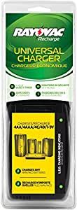 Rayovac General Recharge PlusUniversal Battery Charger,  AA/AAA/C/D/9V Compatibility, PS202