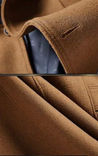 Maniche Maniche Unita Slim da da da Colletto Abbigliamento Casual Tinta Invernale Capispalla Caldo Soprabito A Cappotto Giacca Business Cappotto Kamel Vintage Fit Lunghe Uomo 6x0wqgxz