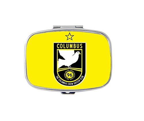 Columbus Jewelry - The Columbus Crew Custom Fashion Style Stainless Steel Rectangle Pill Box Pill Case Vitamins Organizer or Jewelry Box,Coin Purse