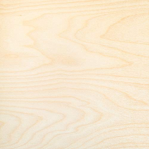 3 mm 1/8 x 12 x 24 Inch Premium Baltic Birch Plywood, Box of 6 B/BB Birch Veneer Sheets, Perfect for Laser CNC Cutting and Wood Burning Projects by Cherokee Wood Products (6) ()