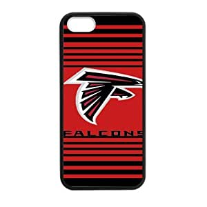 Handsome red background Atlanta Falcons Iphone 5s Case Cover Shell (Laser Technology)