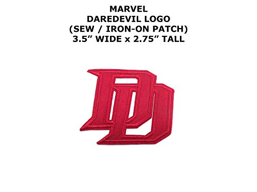 Daredevil Hero Costumes (Marvel Comics Daredevil Super Hero DIY Embroidered Sew or Iron-on Applique Patch Outlander Gear)
