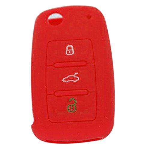 (Car Remote Key Silicone Cover For Vw Polo Passat Golf Mk5 Mk6 Eos Scirocco Jetta Bora Touareg/Skoda Superb Fabia)