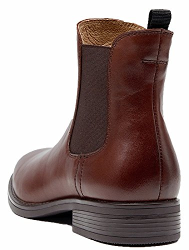 buy cheap best U-lite Womens Fall Winter Wing-Tip Comfortable Brogue Leather Chelsea Ankle Boots Women Booties Brown-a with mastercard discount supply footlocker pictures cheap online 1e9N4T