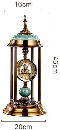 KUQIQI 時計ヨーロッパの時計広場時計リビングルーム置時計時計クリエイティブデコレーションローマの置時計 (Color : B)