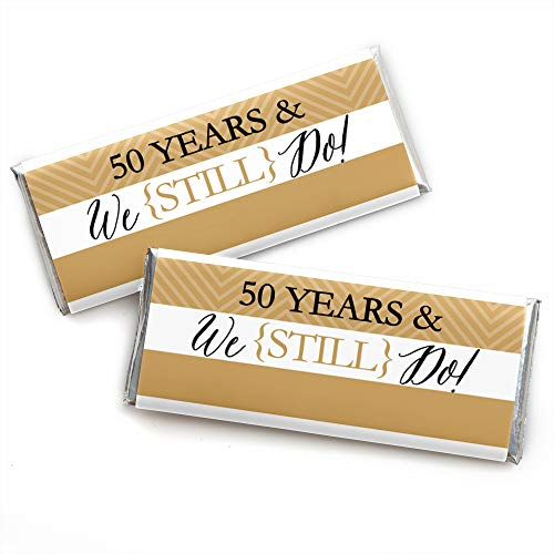 We Still Do - 50th Wedding Anniversary Party - Candy Bar Wrappers Party Favors - Set of -