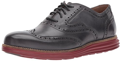 - Cole Haan Men's O. Original Grand Short Wing OX II Oxford, Grey Pinstripe/Sun Dried Tomato, 7 Medium US