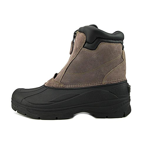 Khombu Paul Men Round Toe Suede Snow Boot | Front Zip