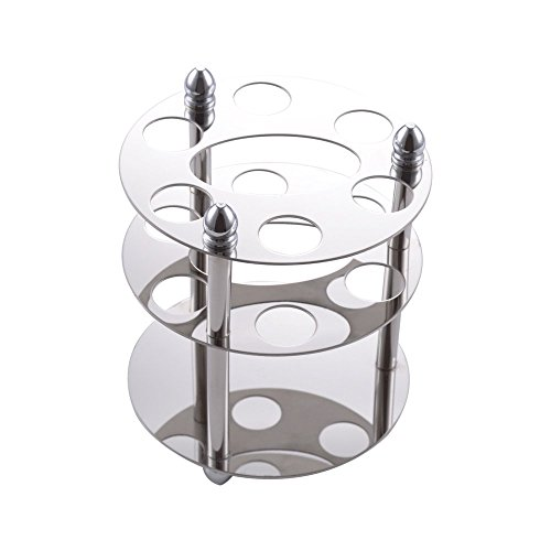Holder Round Toothbrush (Kes Multi Toothbrush Stand Holder Organizer SUS304 Stainless Steel, Polished Finish)