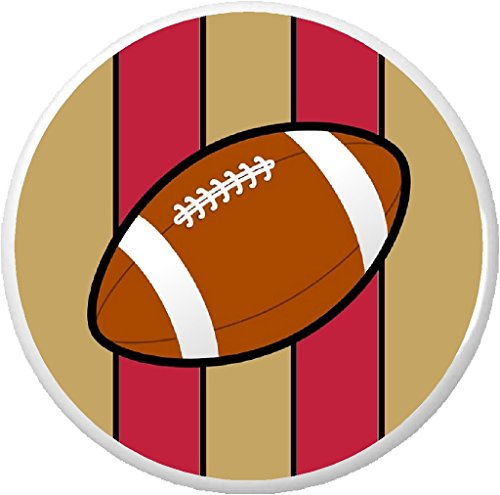 Football Red & Gold 2.25