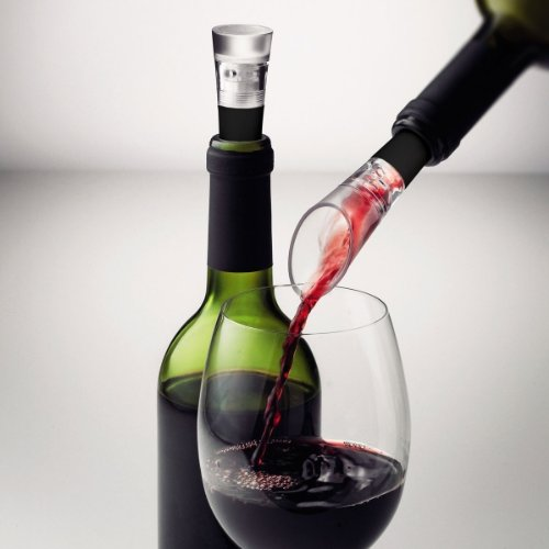 Martin Sonne Selection Wine Set with Decanting Pourer and Vacuum by Menu - Menu Set Vacuum Stopper