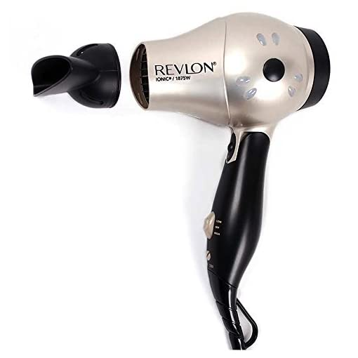Revlon 1875 Watt Fast Dry Compact Hair Dryer with Ionic Select Technolgy, Folding Handle for Easy Convenience - 41T1 674 2BGL - Revlon 1875 Watt Fast Dry Compact Hair Dryer with Ionic Select Technolgy, Folding Handle for Easy Convenience