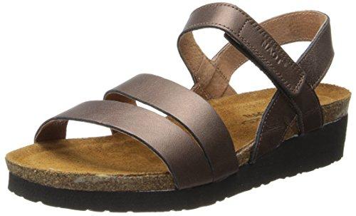 Sandalo Con Zeppa Kayla Donna In Pelle Color Rame