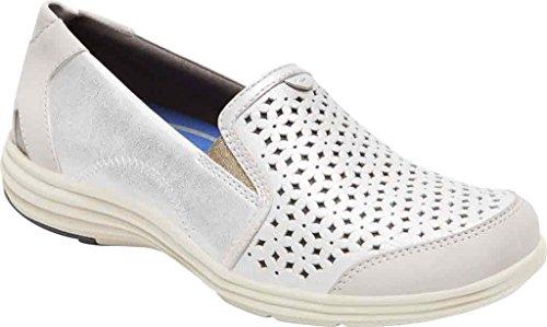 Aravon Women's Bonnie Fashion Sneaker, Silver, 11 2A US