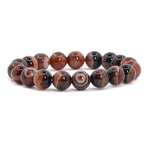 Dream Agate Gemstone 10mm Round Beads Stretch Bracelet 7