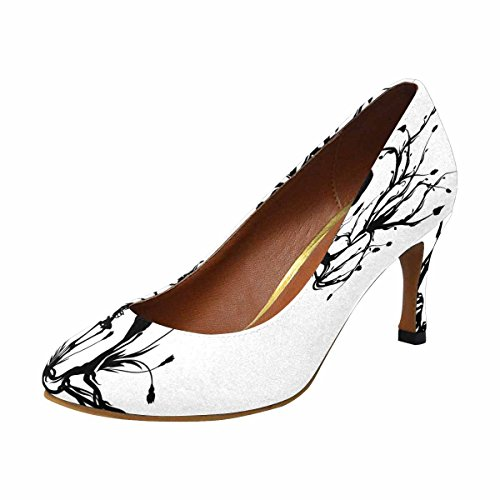 InterestPrint Womens Classic Fashion High Heel Dress Pump Conceptual Illustration of The Tree of Life, One Color