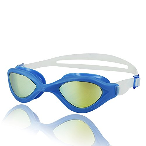 Barracuda Swim Goggle BLISS MIRROR – One-piece Frame, Anti-fog UV Protection Anti-glare, Easy adjusting Quick Fit Lightweight Comfortable No leaking, Triathlon Open Water for Adults Men Women #73310