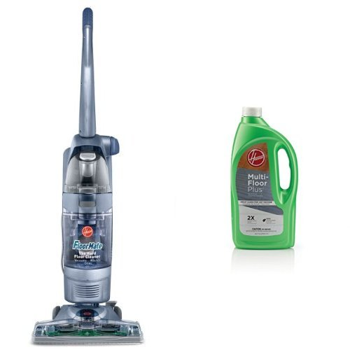 Hoover FloorMate SpinScrub Upright Vacuum with Bonus Hard Floor Wipes, FH40010B and Hoover Multi-FLOORPLUS 2X Concentrated 32 Oz Hard Floor Cleaner Solution - AH30425 Bundle