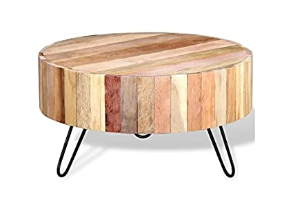 3212167a6b71 Coffee Table Solid Reclaimed Wood Fully handmade powder-coated iron legs  Beige durable and beautiful