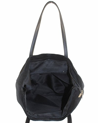 histoireDaccessoires - Bolso de Cuero de Mujer para Llevar al Hombro - SA127023GO-Calypso Negro