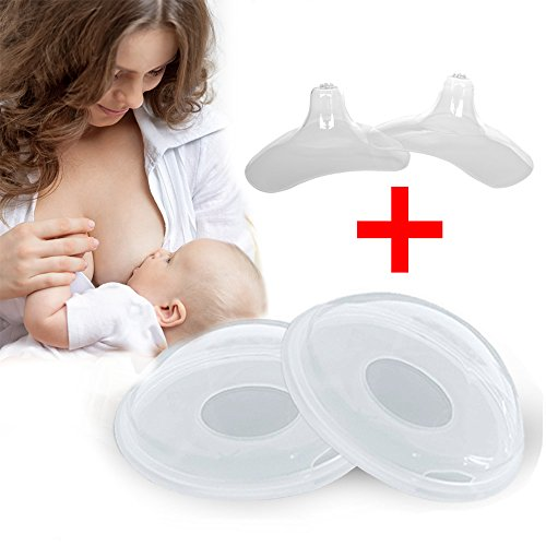 Breast Shells,Nipple Shield Hands Free Breast Shield Milk Saver Silicone BPA-Free Soft Ideal for Breast Feeding