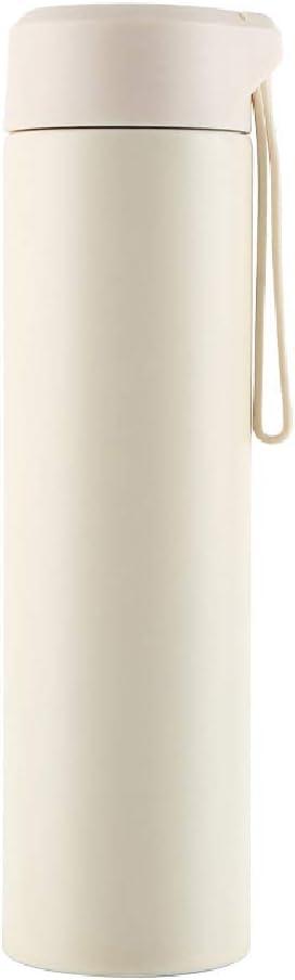 YHDQ Botella de Agua de Acero Inoxidable al Aire Libre/aspiradora, Creativa, Escalada, Botella de Agua de Viaje/Honda portátil Taza Recta-Yellow