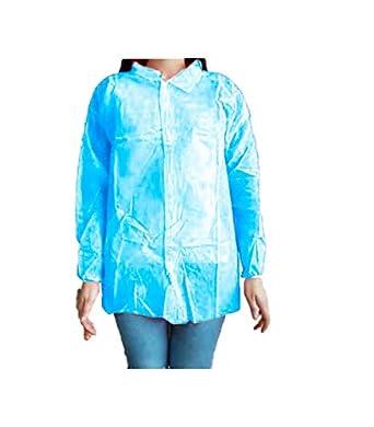 684f3bc86 Protección desechable. Cierre con velcros y cuello tipo camisa. Color azul  bebé  Amazon