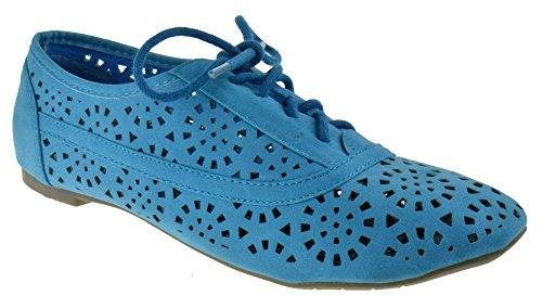 Ups Out Jazz Cambrdige 04 Flats Cut Oxfords BLUE lace wfxvqP