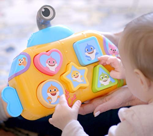 41T11vyhclL - WowWee Pinkfong Baby Shark Melody Shape Sorter - Preschool Toy