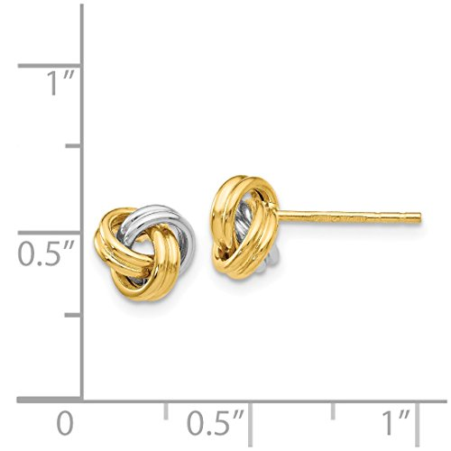 ICE CARATS 14k Yellow Gold Love Knot Post Stud Ball Button Earrings Fine Jewelry Gift Set For Women Heart by ICE CARATS (Image #6)