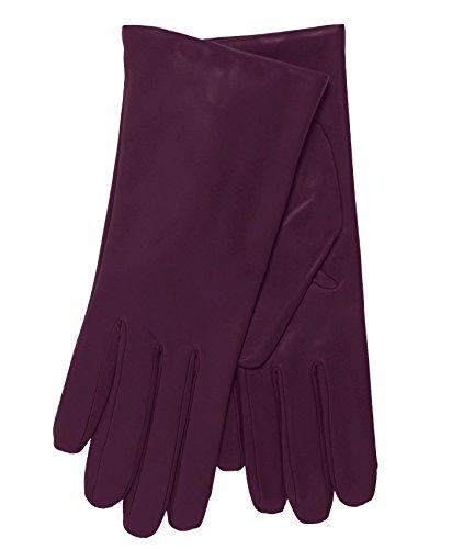 - Fratelli Orsini Everyday Women's Italian Cashmere Lined Leather Gloves Size 9 Color Eggplant