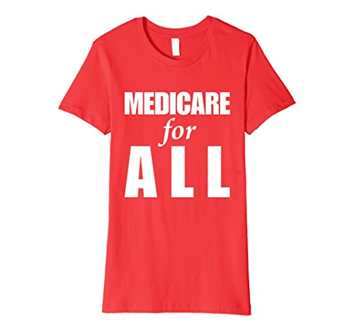 Womens Medicare for All! Universal Healthcare T-shirt Large Red