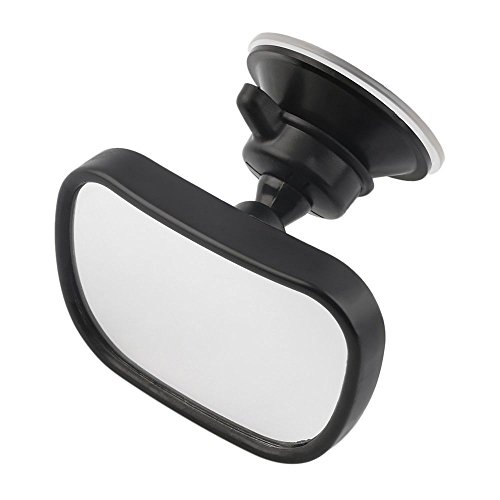 Child Rear View Mirror (Baby Car Mirror Rear Facing - View Infant/Toddler In Back Seat - Shatter-proof Safety - New Sucktion Cup on Windshield or Clip on Car Sun)