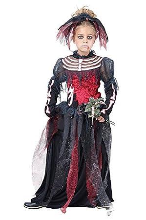 Niños gótico esqueleto novia cadáver disfraz Medium (6 – 8yrs ...