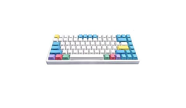Teclado mecánico, 84 Teclas compactas para Office/Gamer Color ...