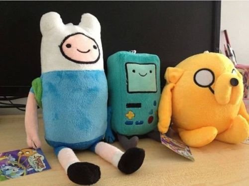 [gg 3pcs/set Adventure Time Finn Jake Beemo BMO Soft Figure Anime Plush Toy Doll] (Peppermint Butler Costume)