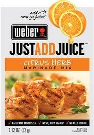 - Weber Citrus Herb Marinade Mix, 1.12 oz. Packets (4 Pack) Just add Juice!