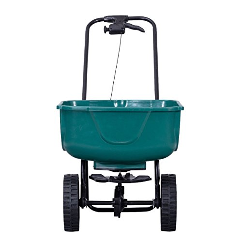 AK Energy Large Hopper Garden Grass Fertilizer Lawn Yard Push Seeder Broadcast Spreader 44Lbs Capacity